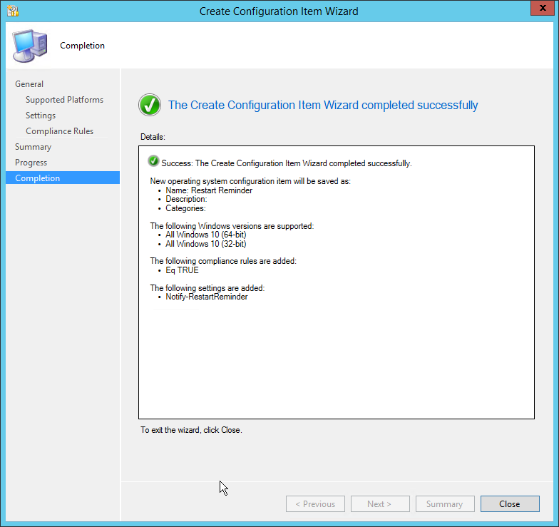 Recurring PowerShell Scripts via SCCM Compliance Baseline